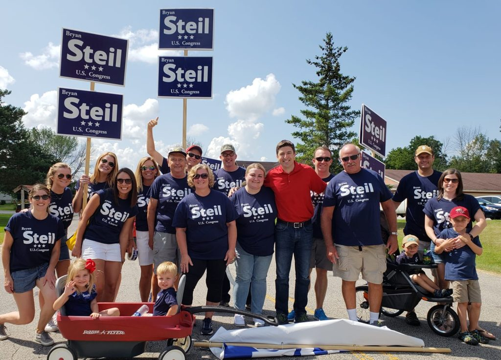 Team Steil readies to step off for the Dousman Derby Days Parade!
